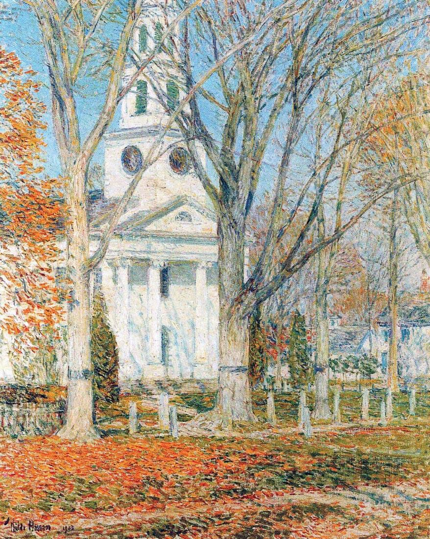 The Church of Old Lyme, Connecticut [1] - Hassam